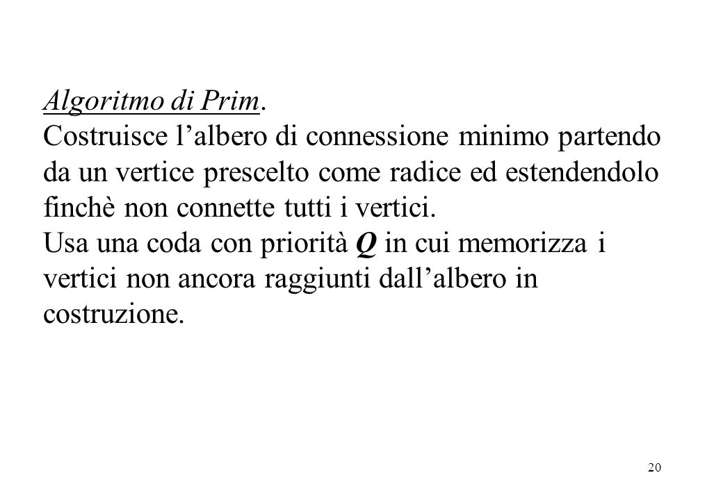 Algoritmo di Prim.