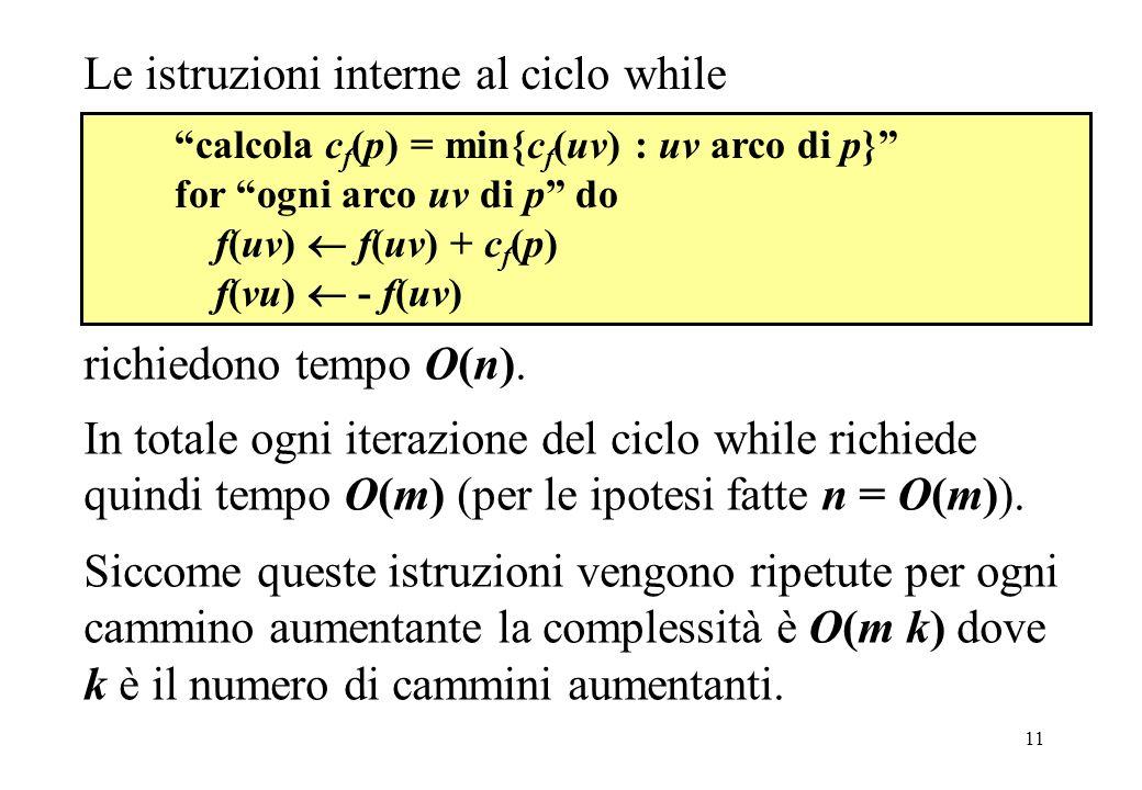 Le istruzioni interne al ciclo while