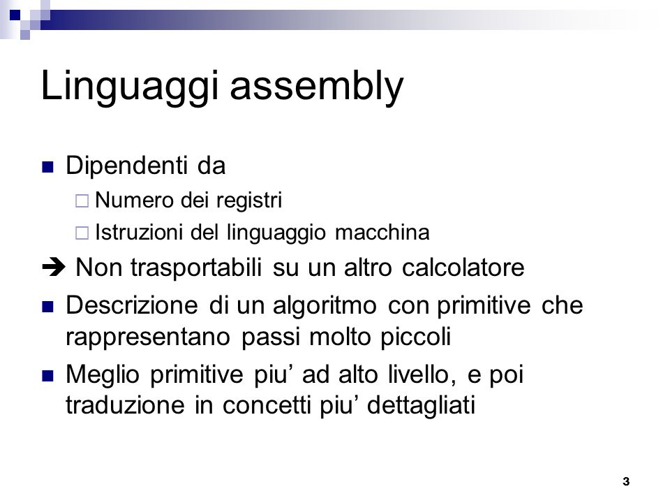 Linguaggi assembly Dipendenti da