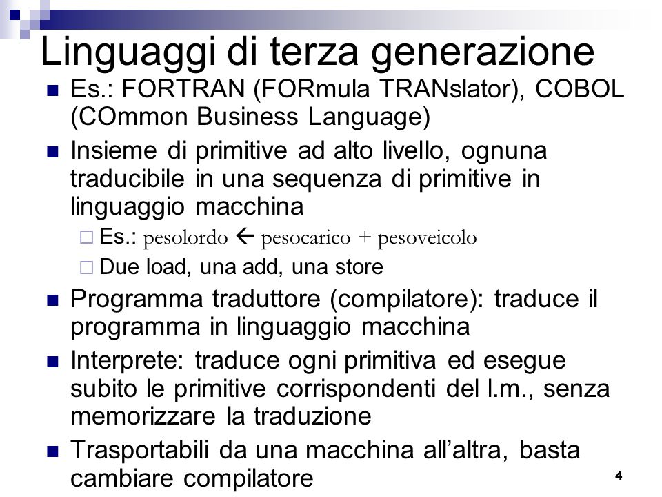 Linguaggi di terza generazione