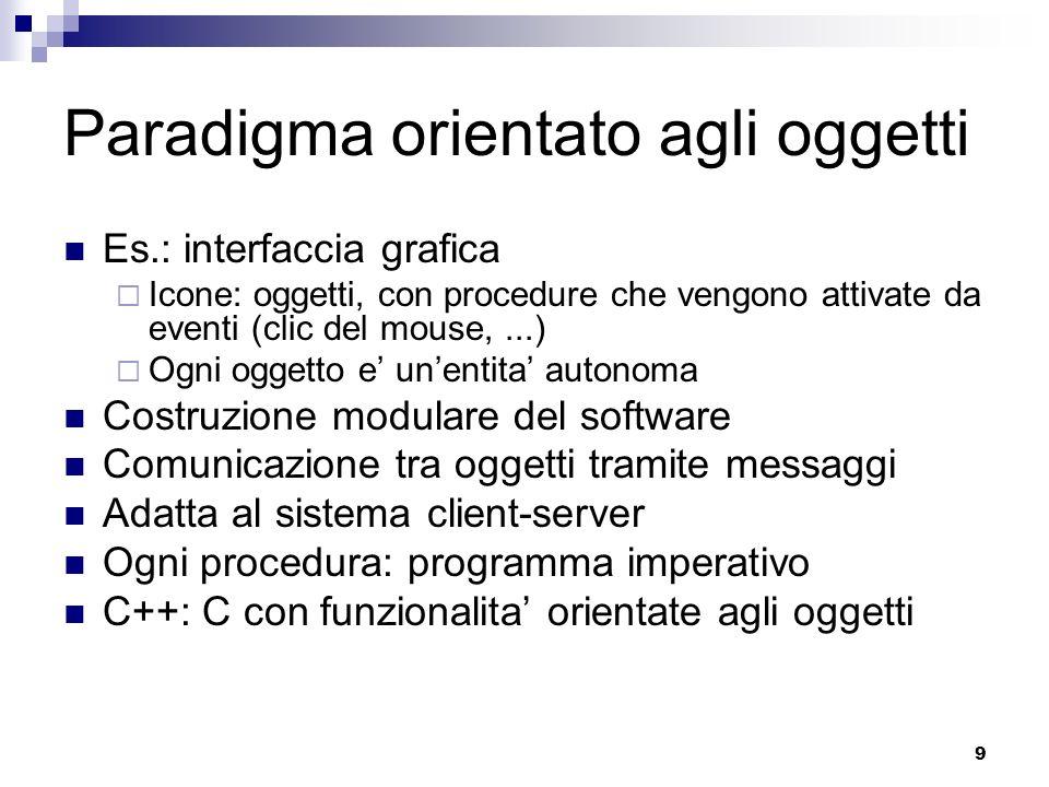 Paradigma orientato agli oggetti