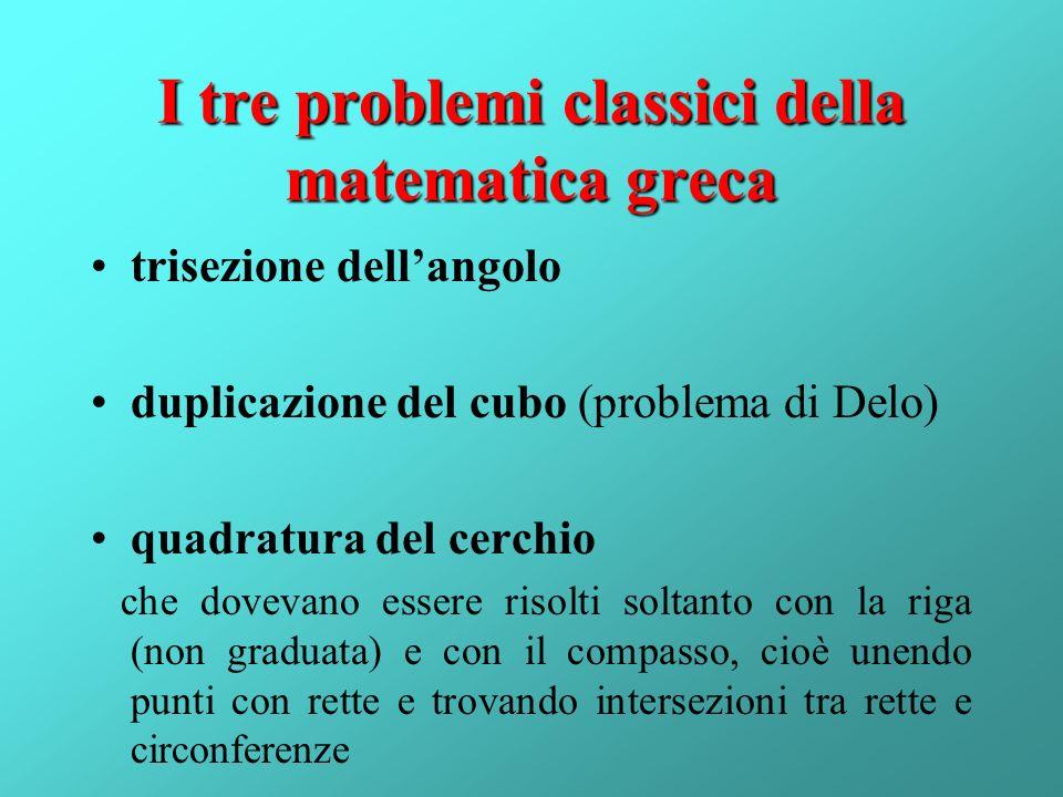 I tre problemi classici della matematica greca