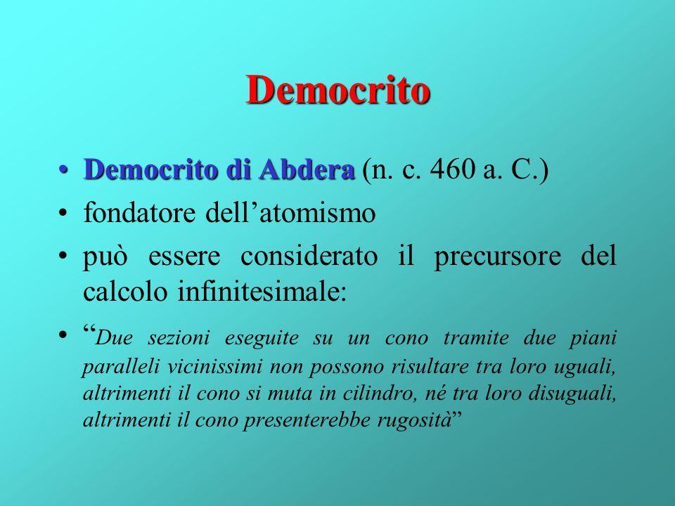 Democrito Democrito di Abdera (n. c. 460 a. C.)