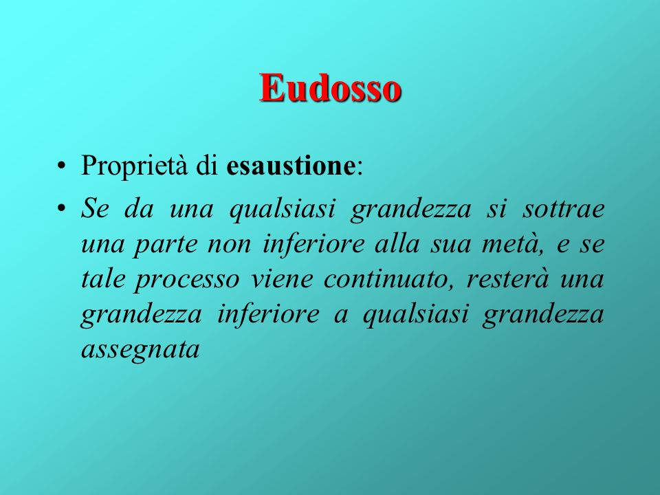 Eudosso Proprietà di esaustione:
