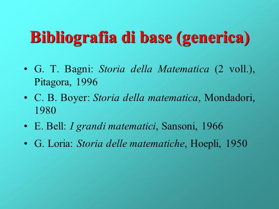 Bibliografia di base (generica)