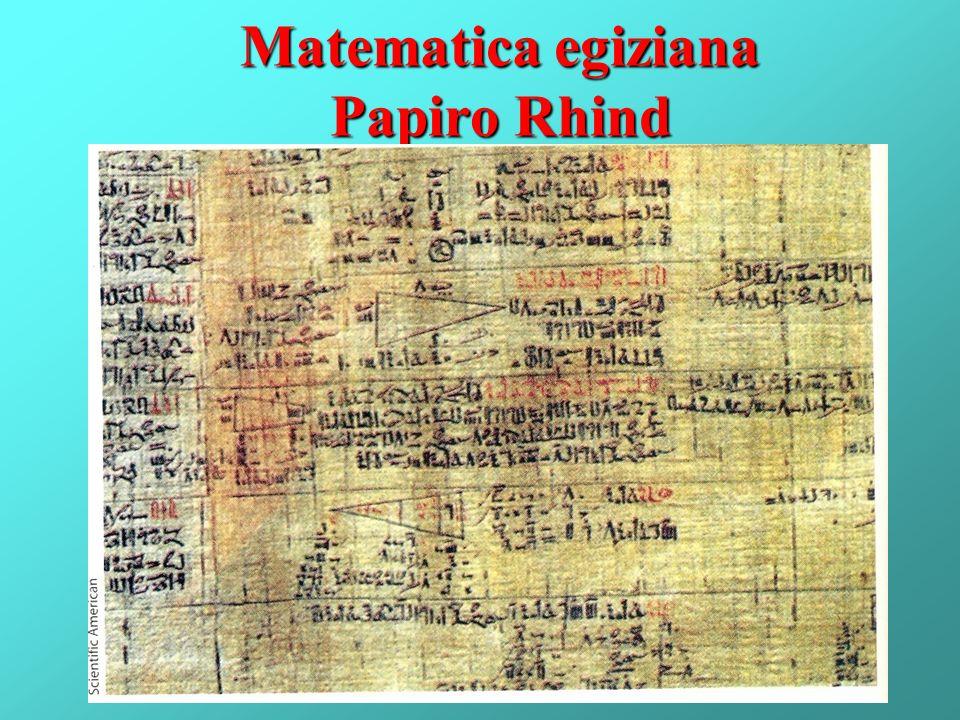 Matematica egiziana Papiro Rhind