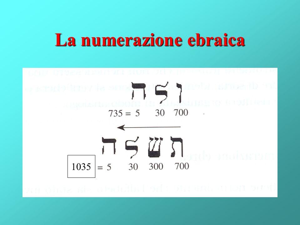 La numerazione ebraica