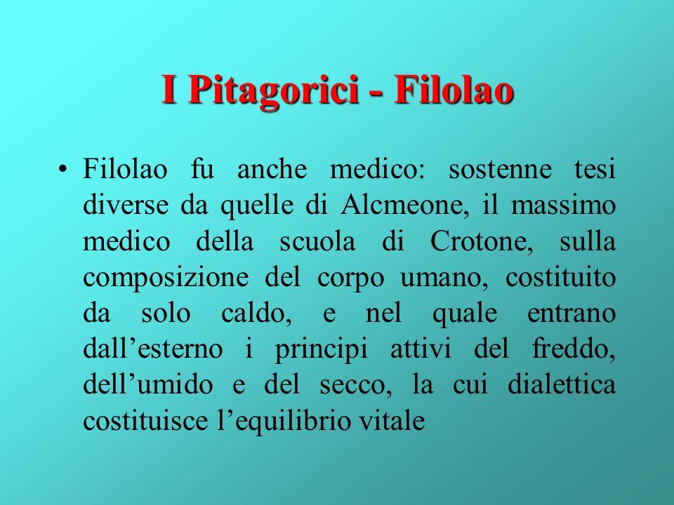 I Pitagorici - Filolao