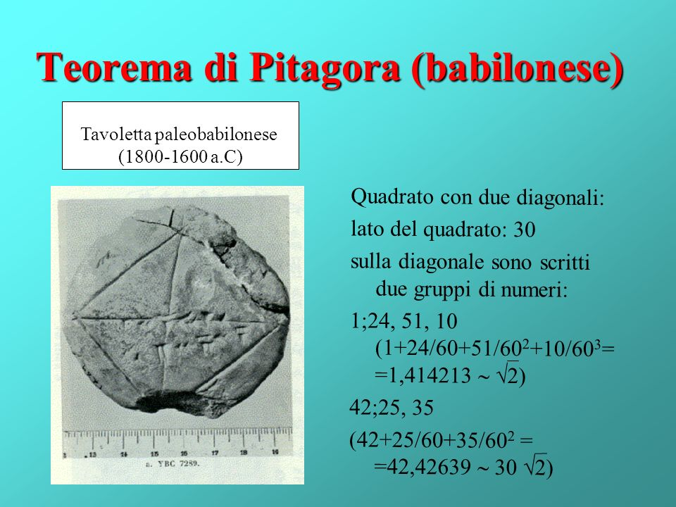 Teorema di Pitagora (babilonese)
