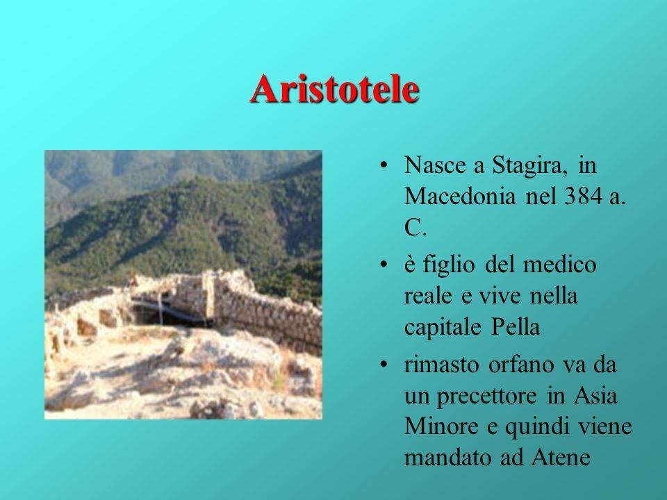 Aristotele Nasce a Stagira, in Macedonia nel 384 a. C.
