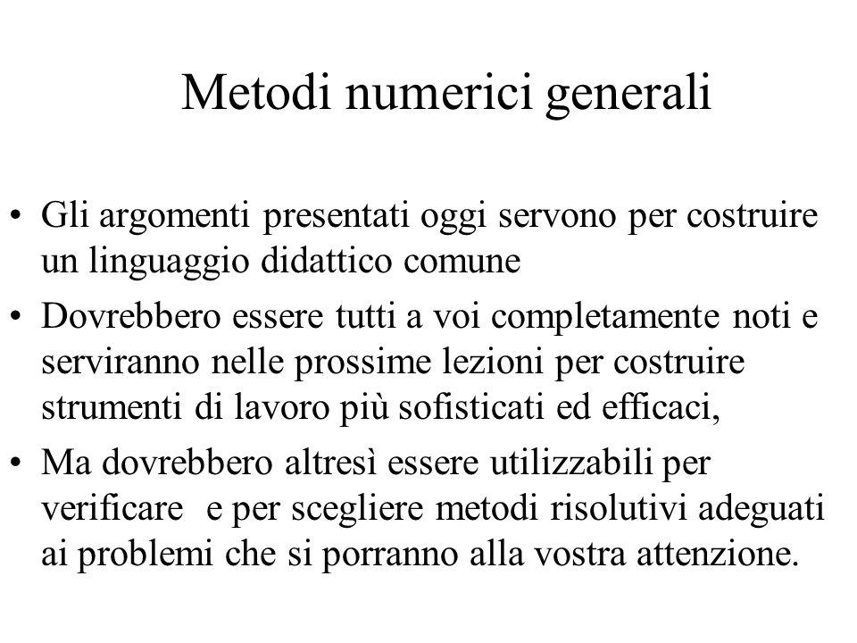 Metodi numerici generali