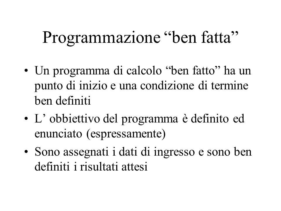 Programmazione ben fatta