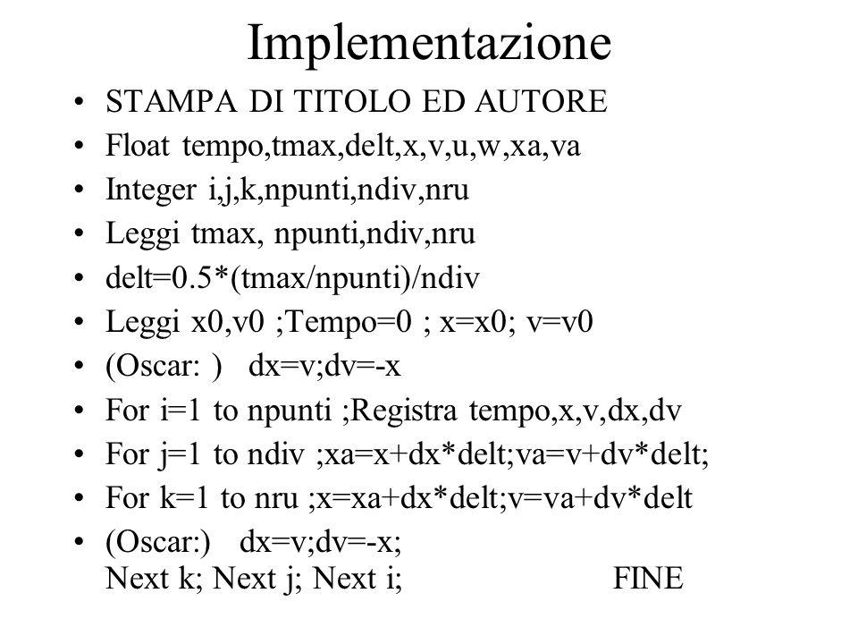 Implementazione STAMPA DI TITOLO ED AUTORE