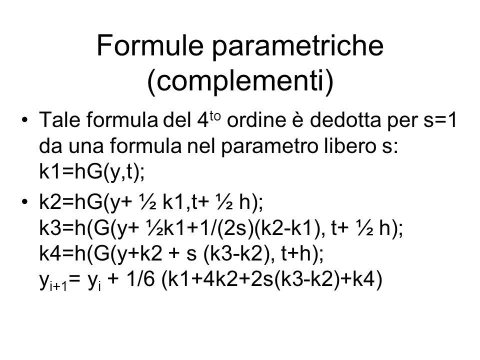Formule parametriche (complementi)