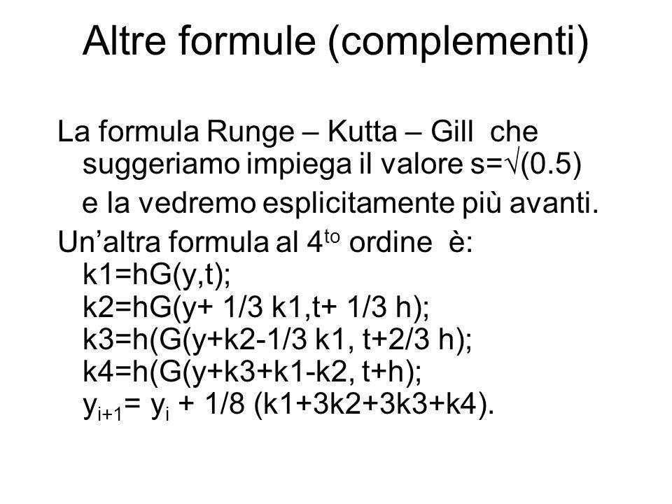 Altre formule (complementi)