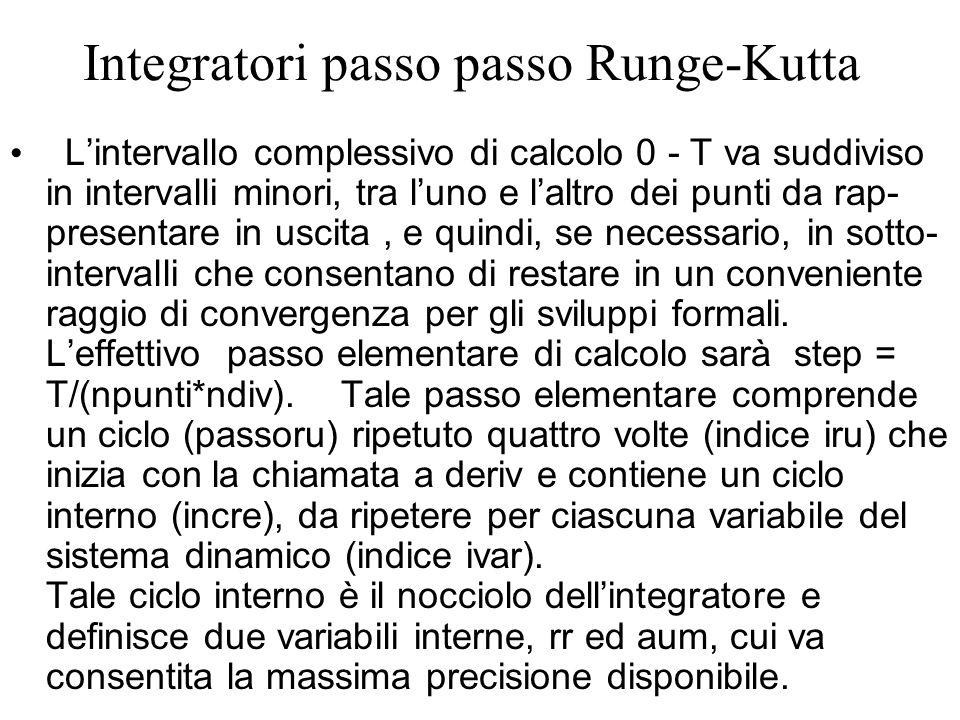 Integratori passo passo Runge-Kutta