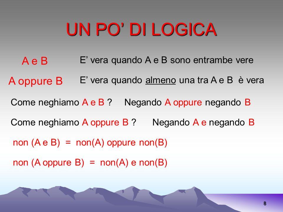 UN PO' DI LOGICA A e B A oppure B