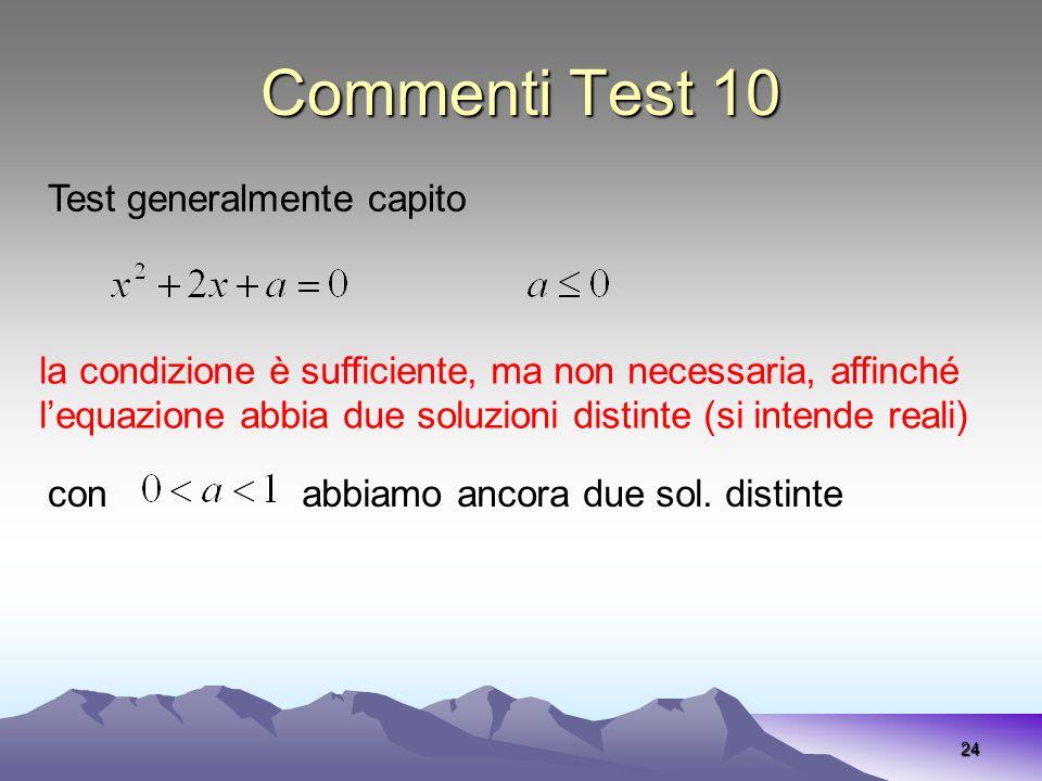Commenti Test 10 Test generalmente capito