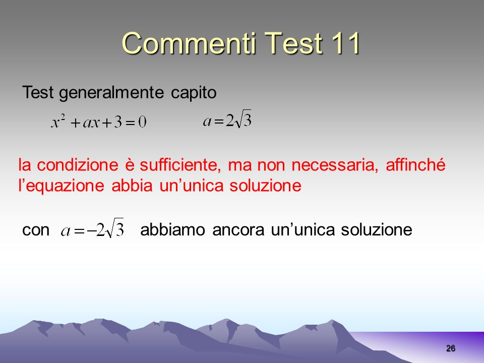 Commenti Test 11 Test generalmente capito