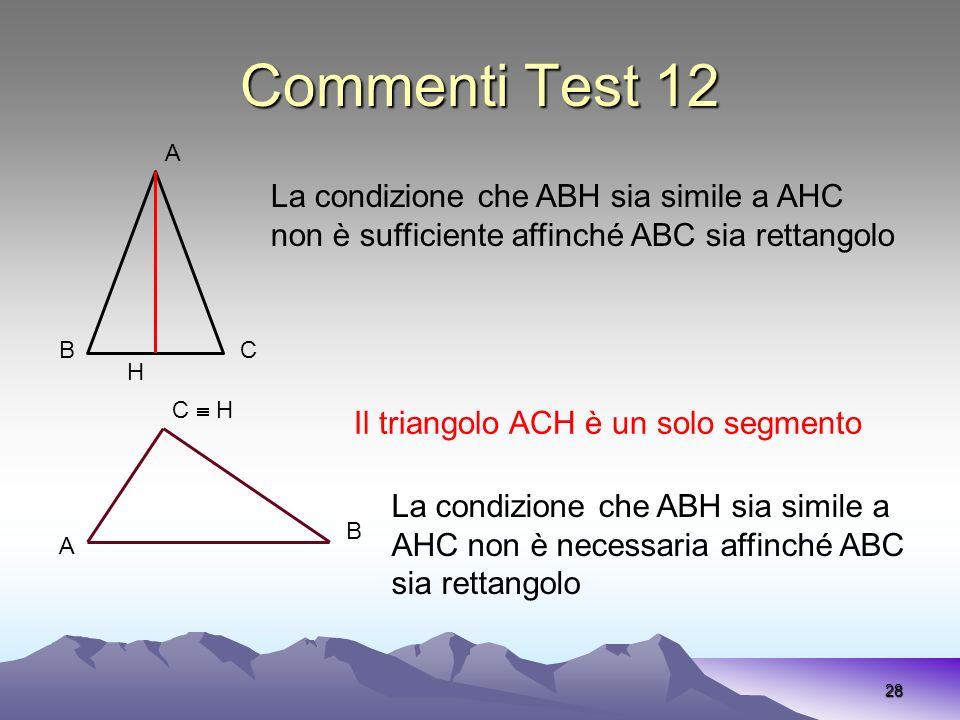 Commenti Test 12 La condizione che ABH sia simile a AHC
