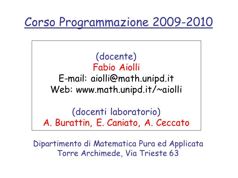 Corso Programmazione 2009-2010