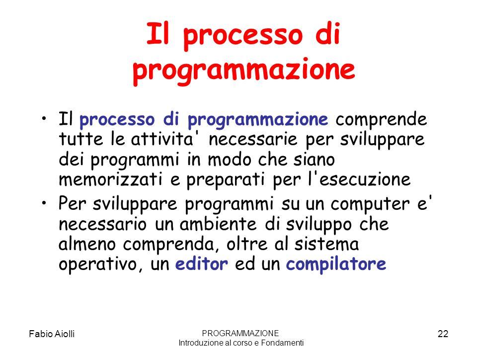 Il processo di programmazione