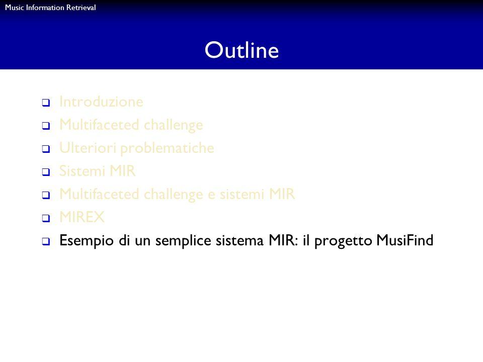 Outline Introduzione Multifaceted challenge Ulteriori problematiche