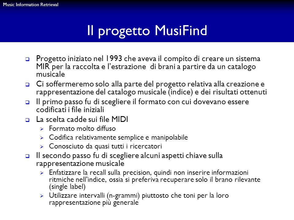 Il progetto MusiFind