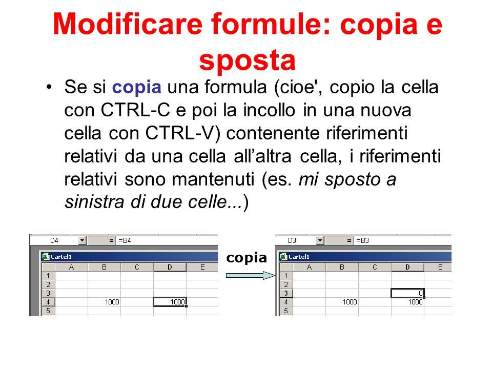 Modificare formule: copia e sposta