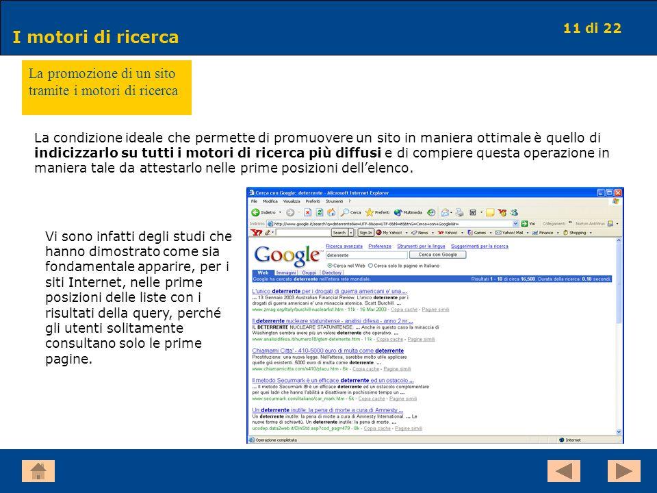 La promozione di un sito tramite i motori di ricerca
