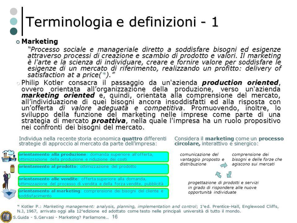 Terminologia e definizioni - 1