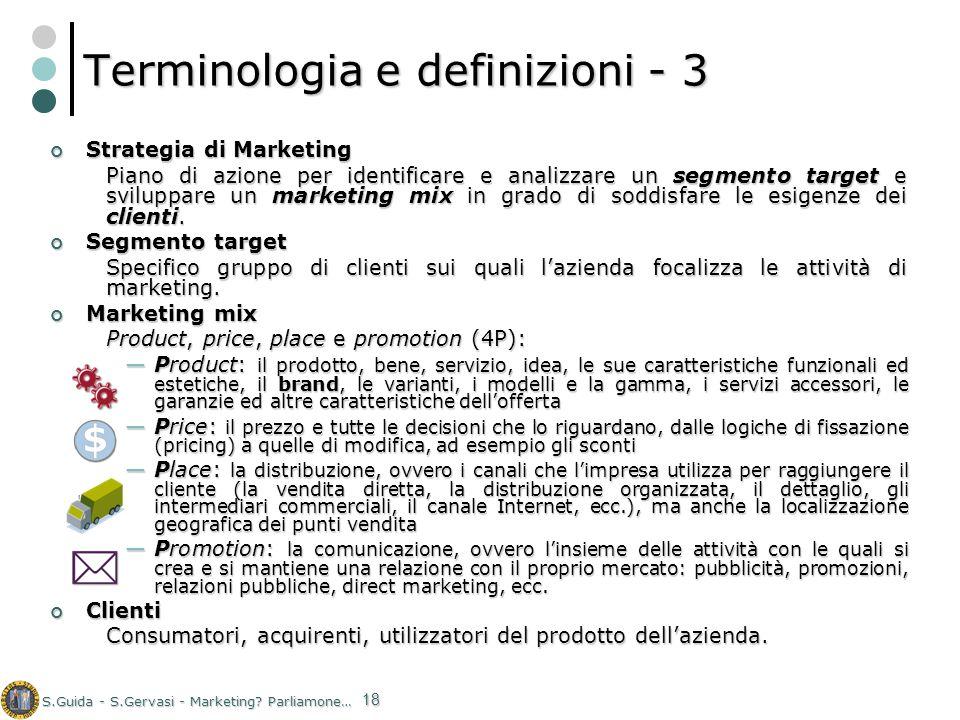 Terminologia e definizioni - 3