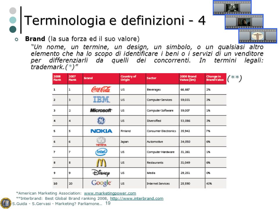 Terminologia e definizioni - 4