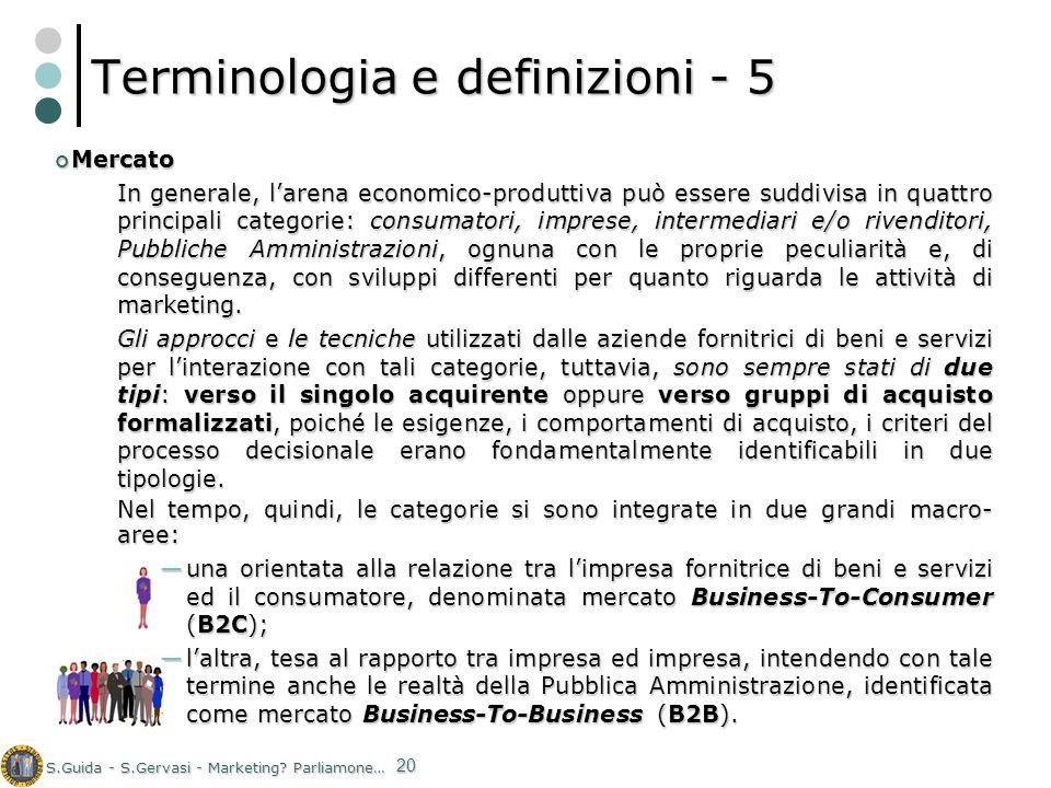 Terminologia e definizioni - 5