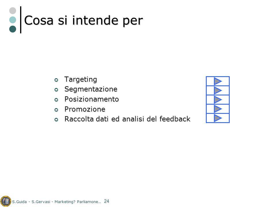 Cosa si intende per Targeting Segmentazione Posizionamento Promozione