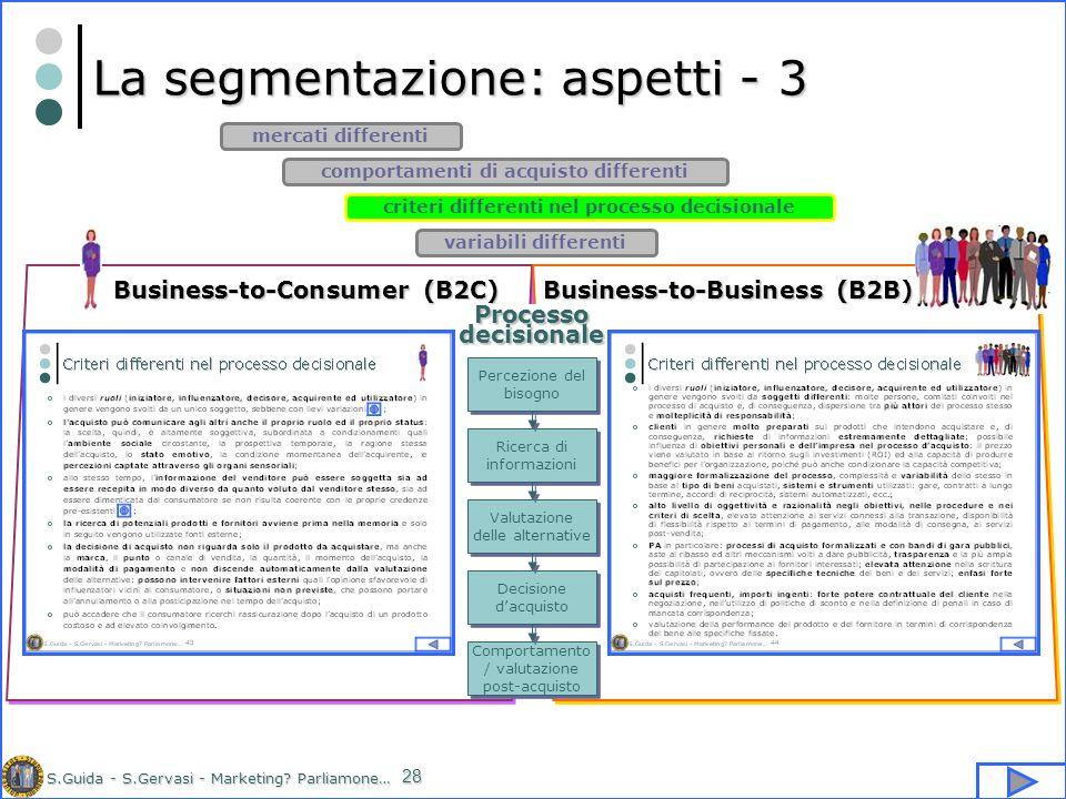 La segmentazione: aspetti - 3