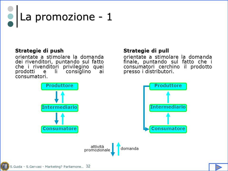 La promozione - 1 Strategie di pull