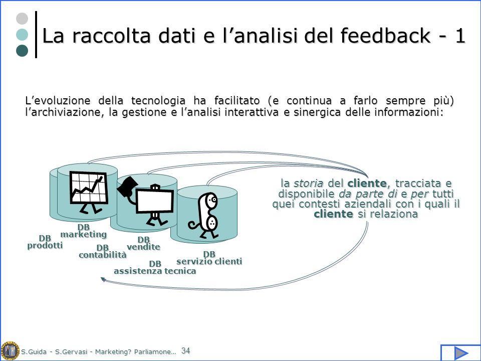 La raccolta dati e l'analisi del feedback - 1