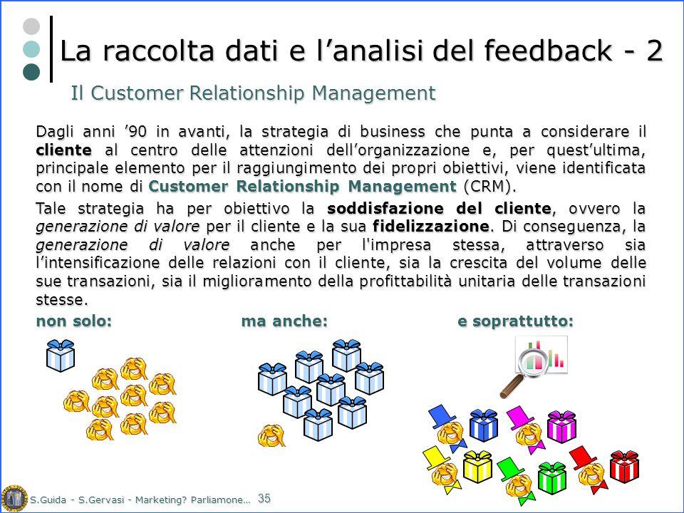La raccolta dati e l'analisi del feedback - 2