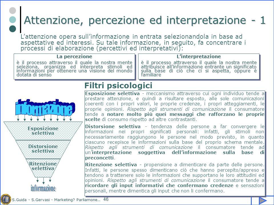 Attenzione, percezione ed interpretazione - 1