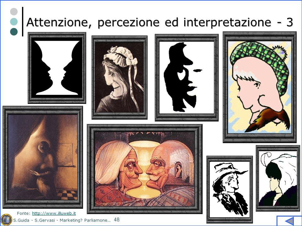 Attenzione, percezione ed interpretazione - 3