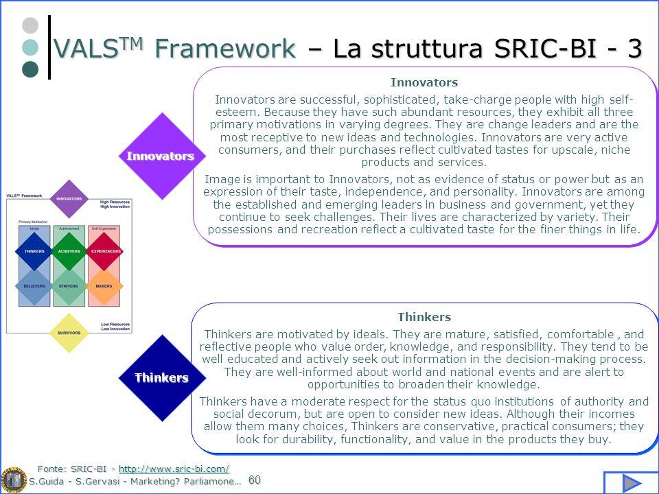 VALSTM Framework – La struttura SRIC-BI - 3