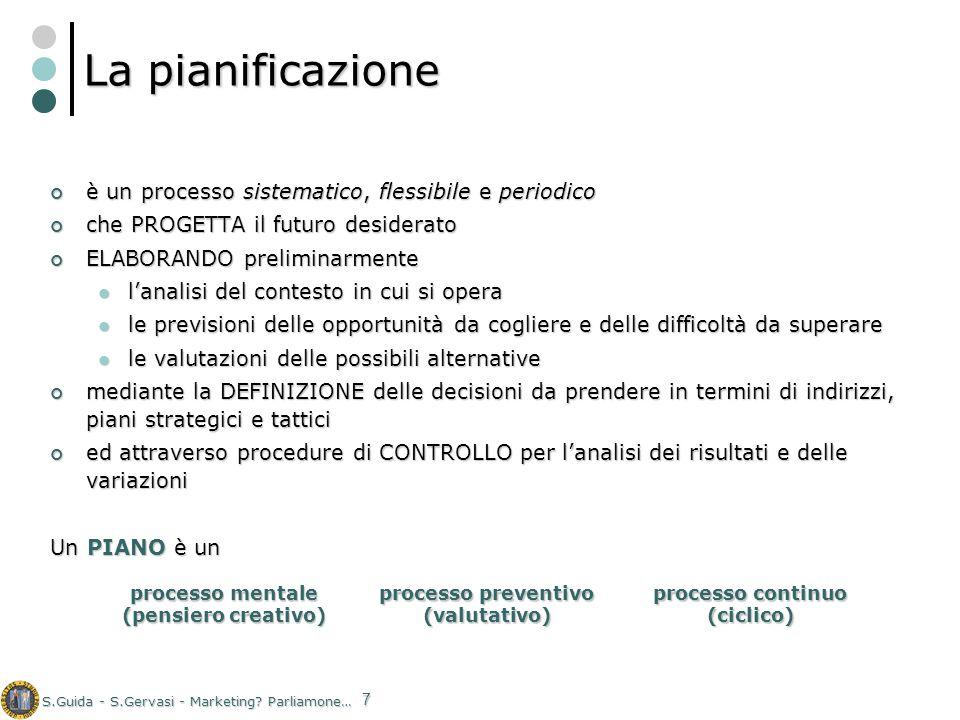 La pianificazione è un processo sistematico, flessibile e periodico