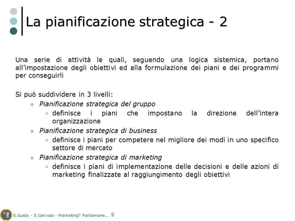 La pianificazione strategica - 2