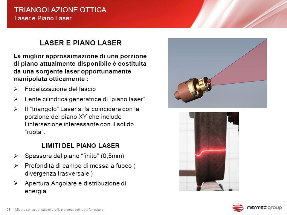 TRIANGOLAZIONE OTTICA Laser e Piano Laser