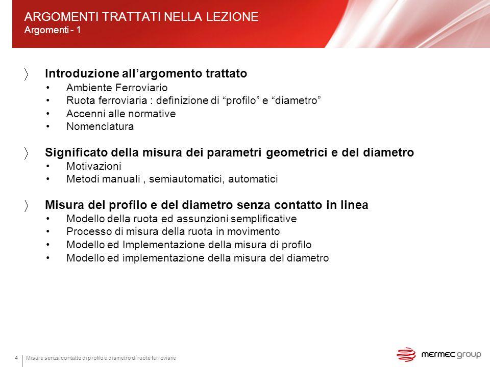 ARGOMENTI TRATTATI NELLA LEZIONE Argomenti - 1