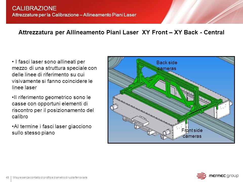 Attrezzatura per Allineamento Piani Laser XY Front – XY Back - Central