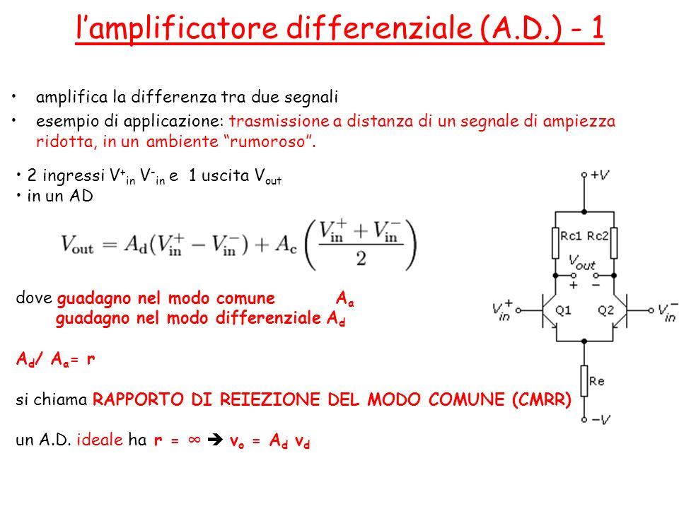 l'amplificatore differenziale (A.D.) - 1