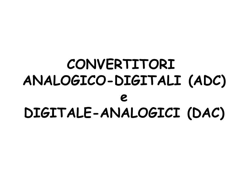 ANALOGICO-DIGITALI (ADC) DIGITALE-ANALOGICI (DAC)