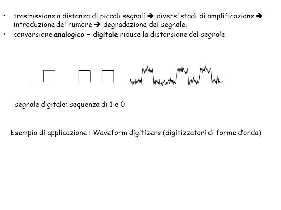trasmissione a distanza di piccoli segnali  diversi stadi di amplificazione  introduzione del rumore  degradazione del segnale.